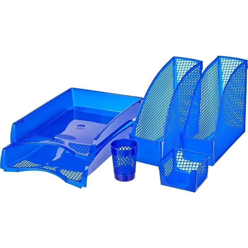 Набор настольный пластиковый 6 предм Attache синий