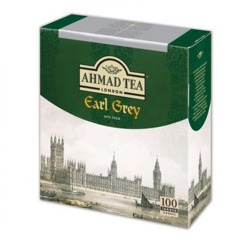 Чай Ahmad Earl Grey 100шт в пакетиках черный с ароматом бергамота