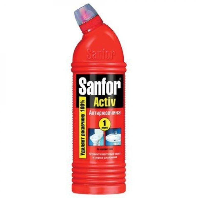 Чистящее средство для сантехники 750мл Санфор Актив Антиржавчина