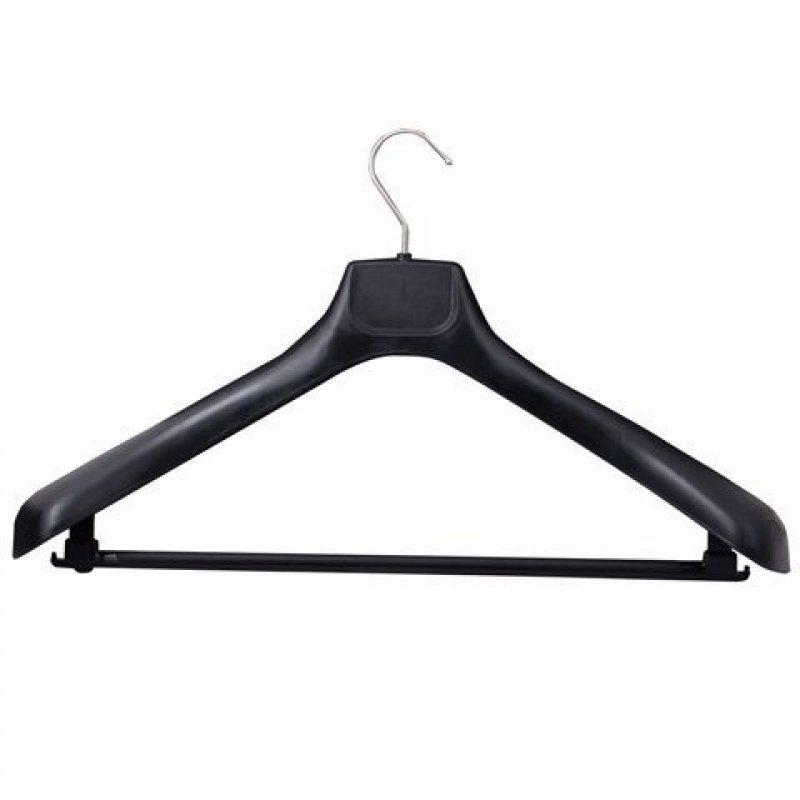 Вешалка-плечики универсальная р 50-54 черная 47см пластик