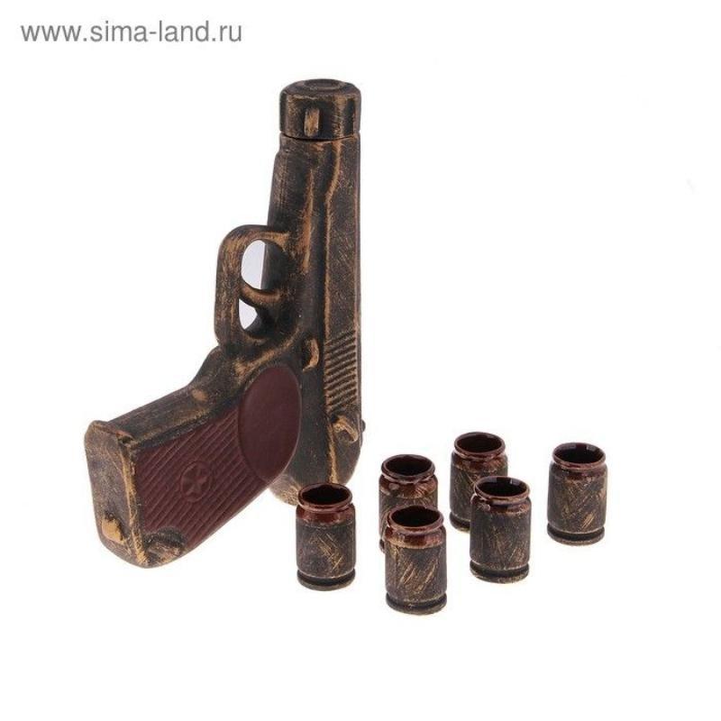 Штоф 1,3л с рюмками Макаров