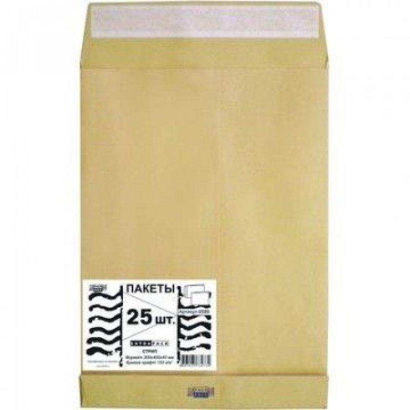 Конверт-пакет E4 объемный (300х400х40мм) крафт с отрывной полосой Extrapack (25)