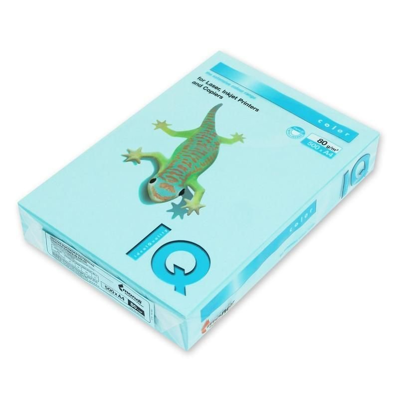 Бумага IQ/Maestro Color А4 80г/м2 500л голубой