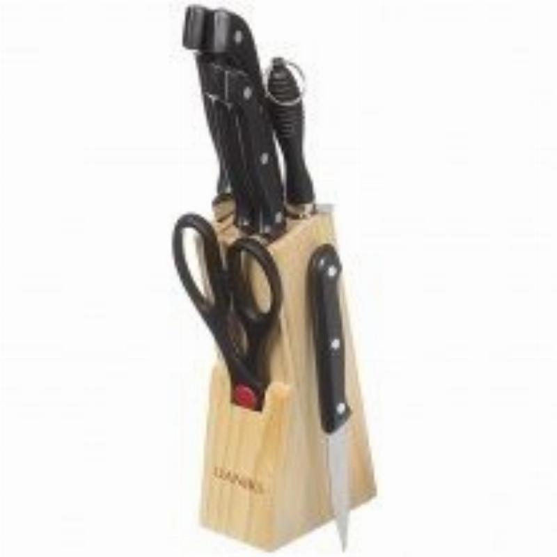 Набор ножей 7пр Daniks на подставке светлый нерж
