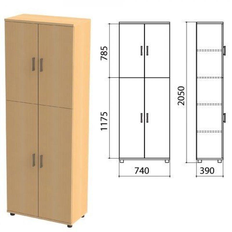 Шкаф закрытый Монолит 740х390х2050мм бук