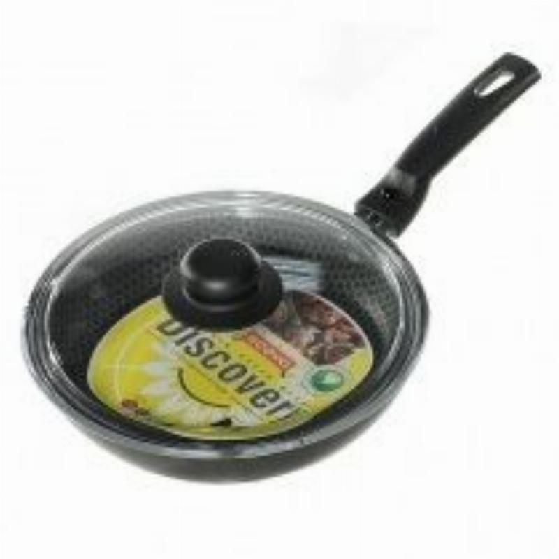 Сковорода 24см Scovo Discovery с крышкой антипригар