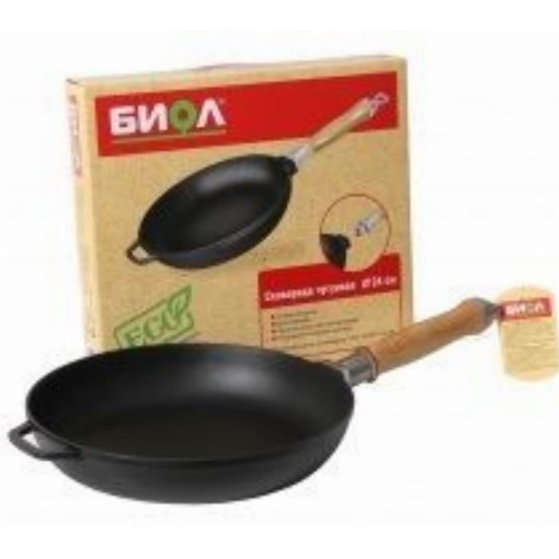 Сковорода 22см Биол без крышки чугун