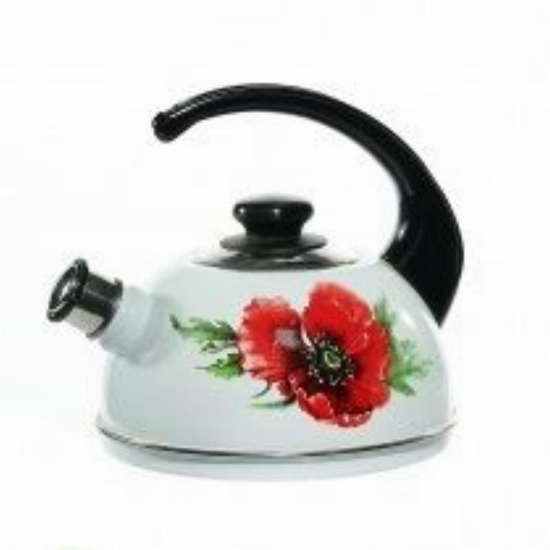 Чайник 2,5л эм Рубин со свистком белый