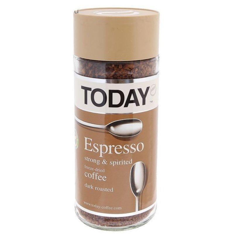 Кофе Today Espresso растворимый 95г стеклянная банка