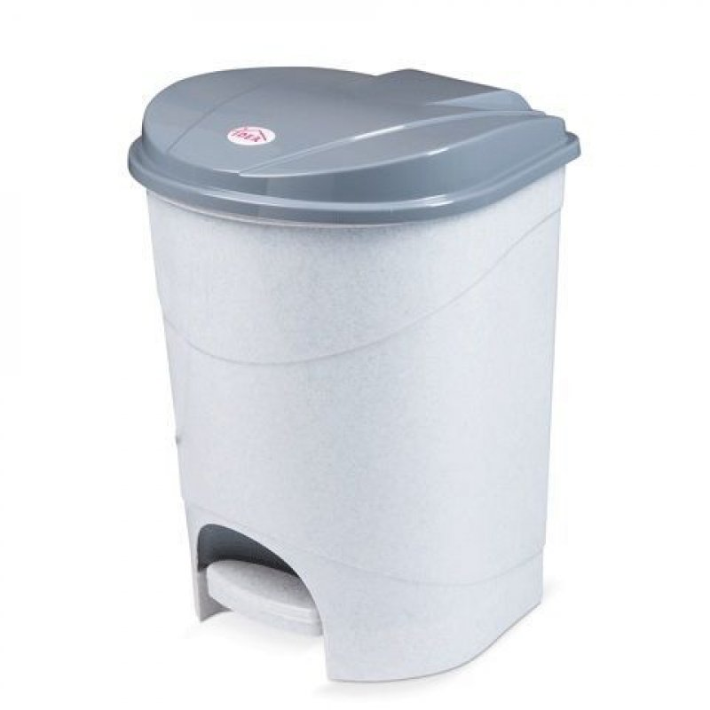 Контейнер для мусора 19л пластик Idea педаль серый