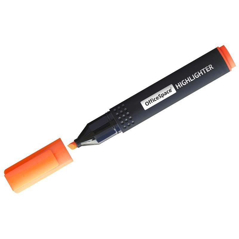 Текстмаркер OfficeSpace 1-4мм скошенный наконечник оранжевый