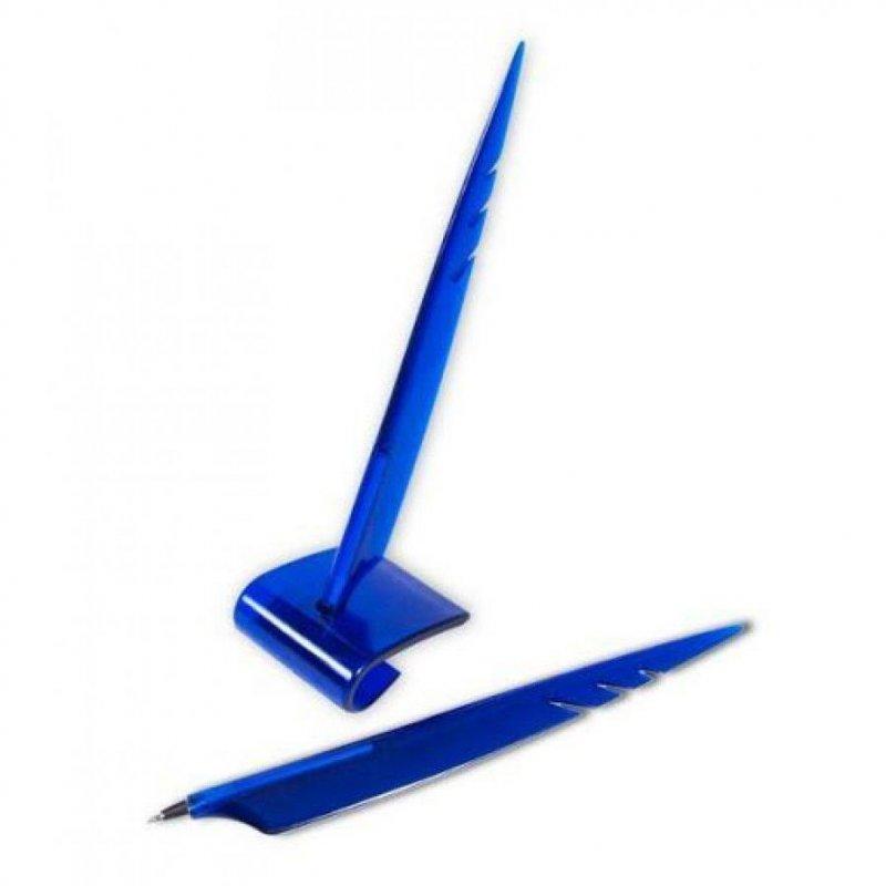 Ручка шариковая на подставке Tukzar Stoppen перо 0,5мм синий корпус синяя