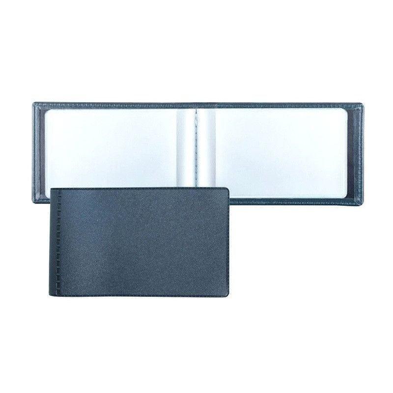 Визитница карманная 28 карточек Attache 1 рядная ПВХ синий