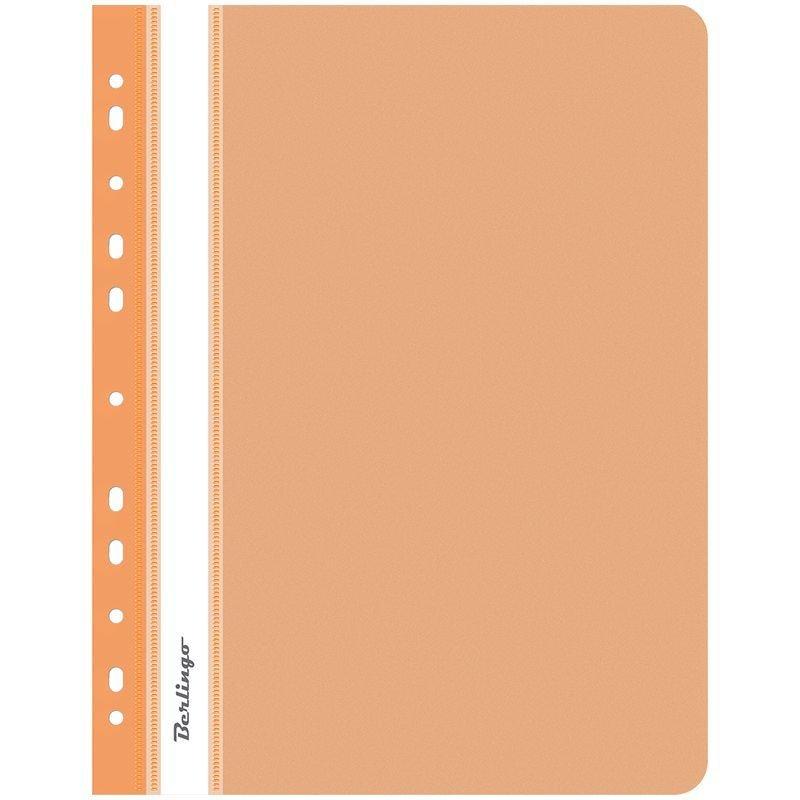 Папка с прозрачным верхним листом Berlingo с дополнительной перфорацией 180мкм оранжевая