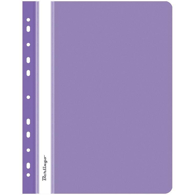 Папка с прозрачным верхним листом Berlingo с дополнительной перфорацией 180мкм фиолетовая