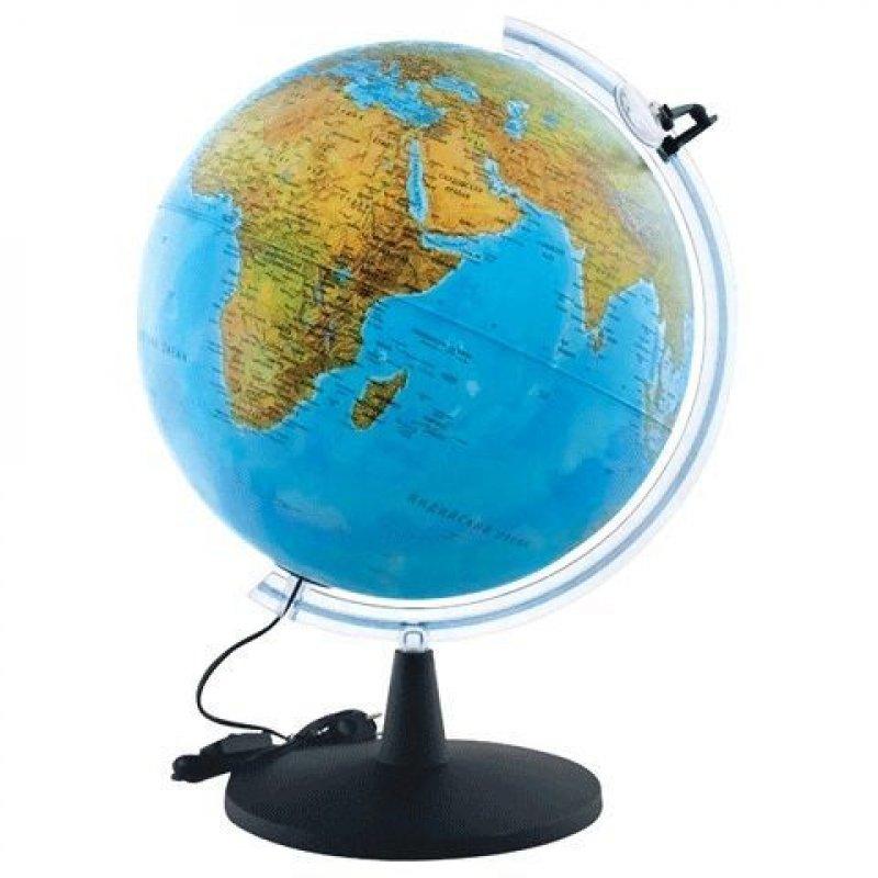 Глобус с политической/физической картой D=40см с подсветкой