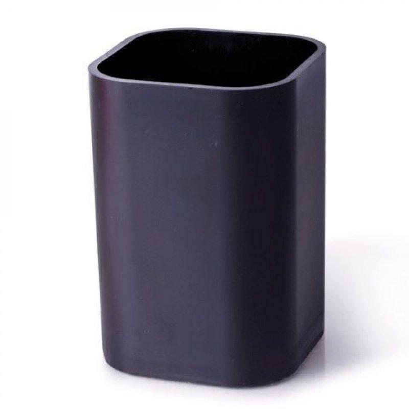Подставка-стакан квадратная черная