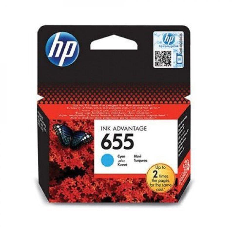 Картридж для HP Deskjet Ink Advantage 3525/5525/4515/4525 №655 CZ110AE голубой ориг.