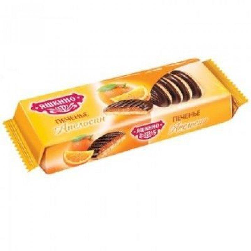 Печенье Яшкино сдобное с бисквитом джемом и шоколадной глазурью ассорти