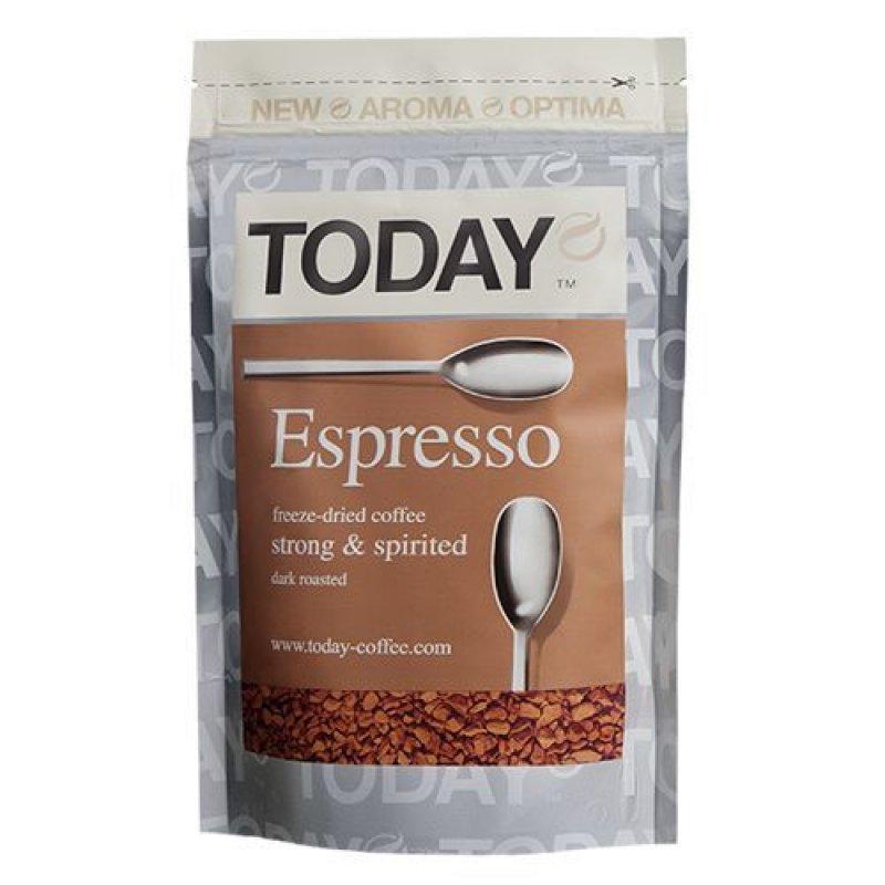 Кофе Today Espresso растворимый 150г вакуумная упаковка