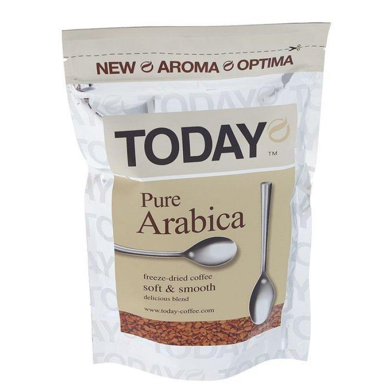 Кофе Today Pure Arabica сублимированный 150г вакуумная упаковка