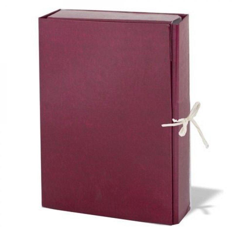 Короб архивный 85мм 2 завязки 700л бумвинил ассорти 310х225х85мм