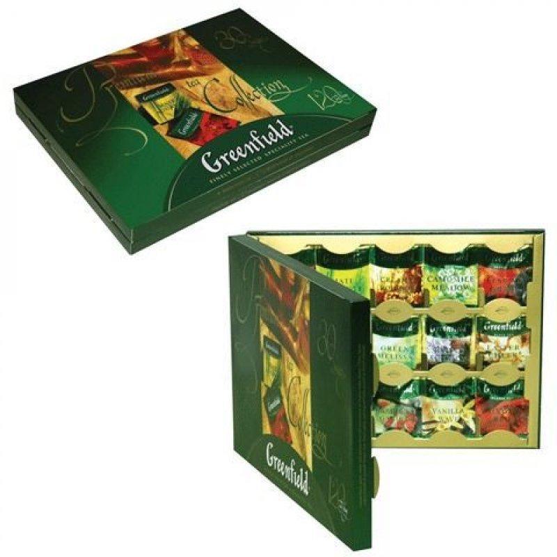Чай Greenfield Набор 30 видов 120шт в пакетиках