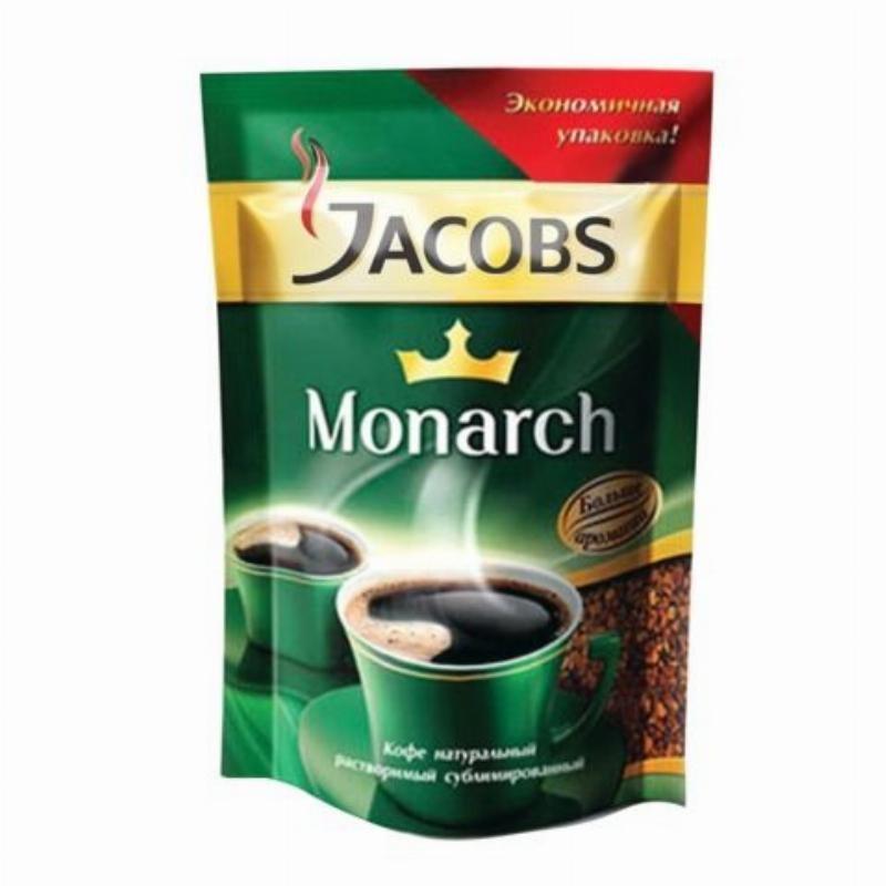 Кофе Jacobs Monarch растворимый 75г мягкая упаковка