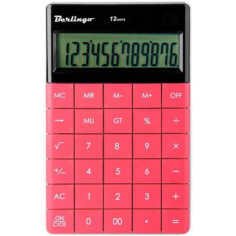 Калькулятор Berlingo CIP_100 165х105мм 12 разр тёмно-розовый