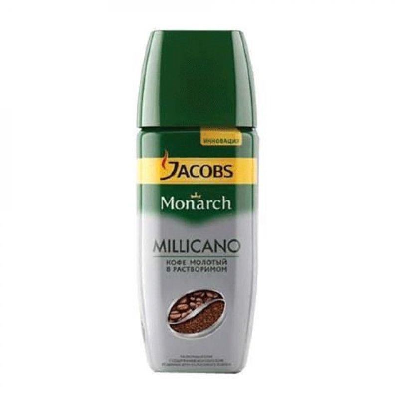 Кофе Jacobs Monarch Millicano растворимый 95г стеклянная банка