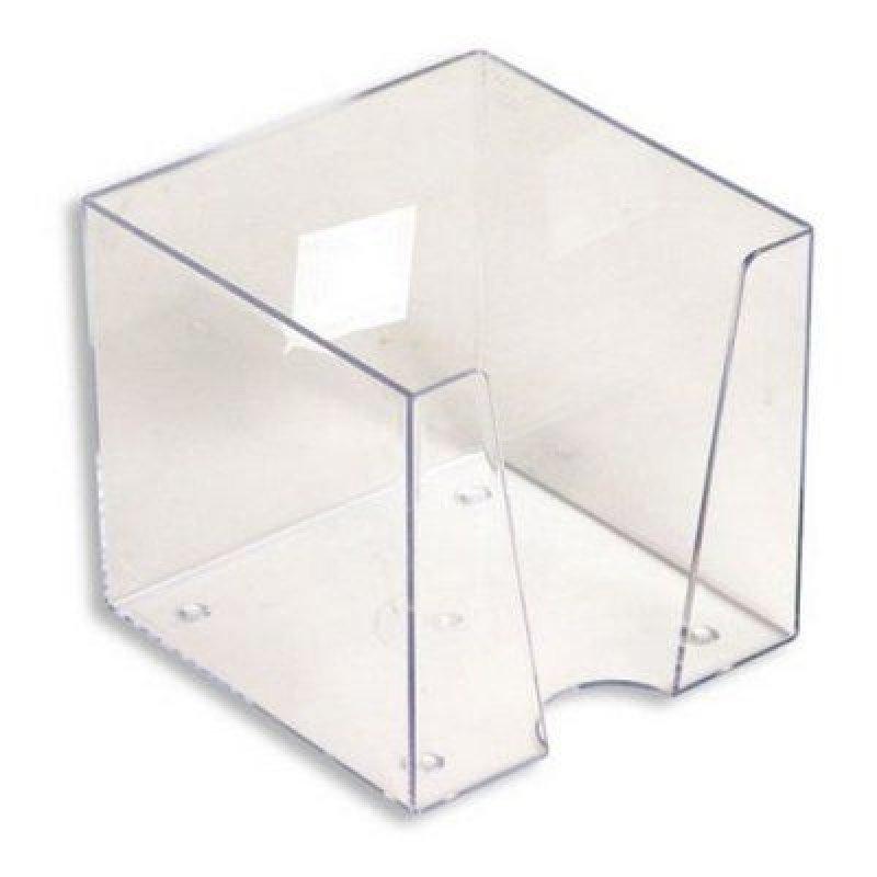 Бокс для бумаги 90х90х90мм Workmate прозрачный