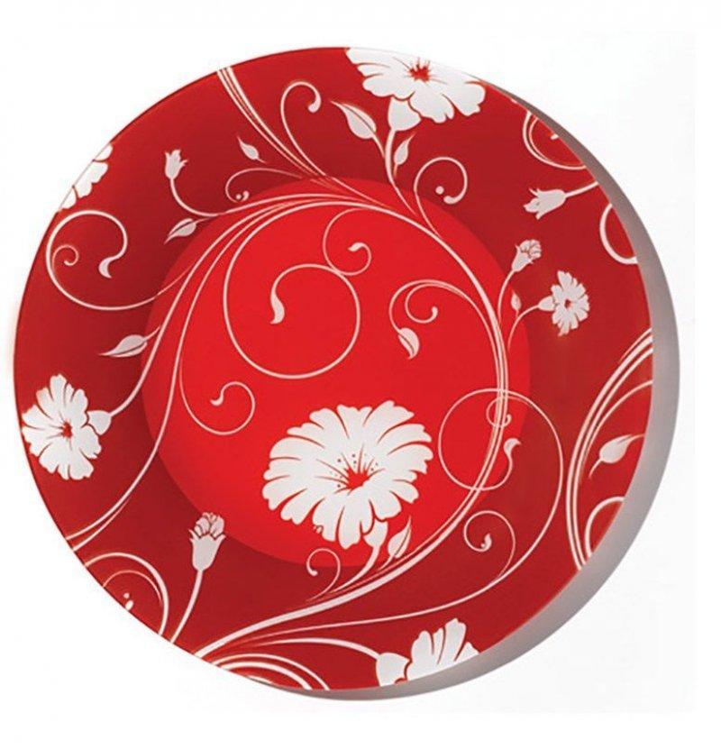 Тарелка 200мм Serenade Red десертная Pasabahce стекло