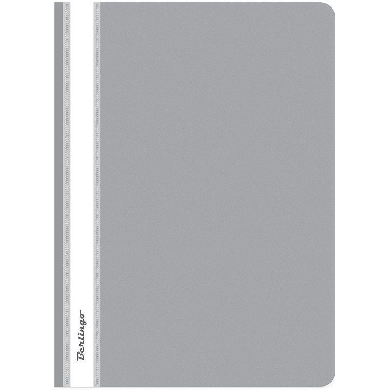 Папка с прозрачным верхним листом Berlingo 180мкм серая