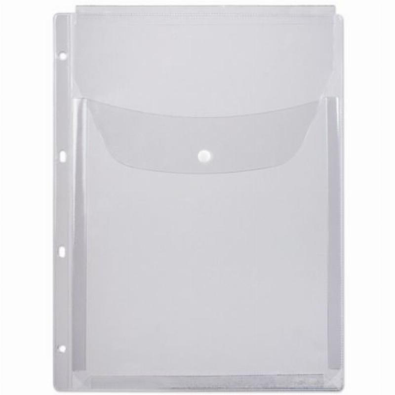 Папка-файл прозрачная с перфорацией А4 ДПС 180 мкм объемная с клапаном на 200 листов