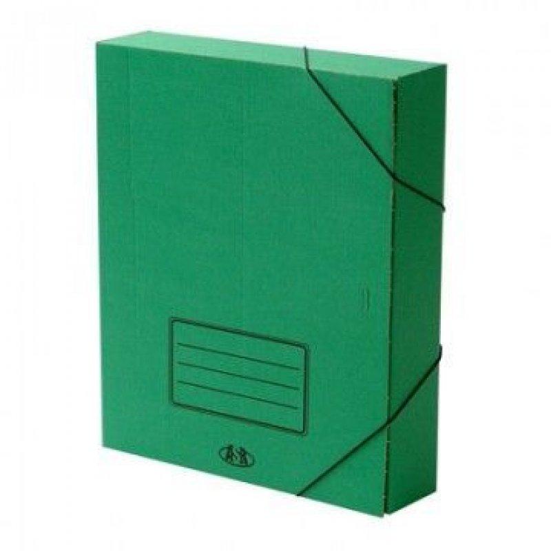 Короб архивный 75мм 700л 2 резинки микрогофрокартон ассорти 322х252х75мм Attache