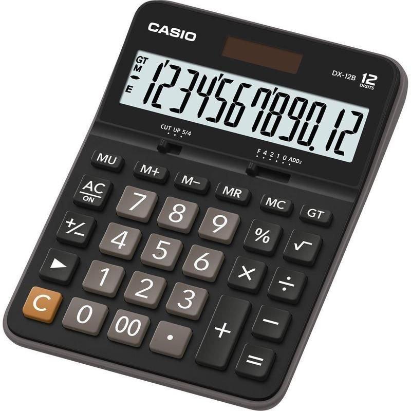 Калькулятор Casio DX-12B 175x129мм 12 разр черный