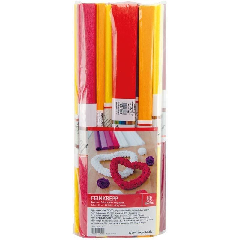 Бумага поделочная креп 50x250см красная в рулоне