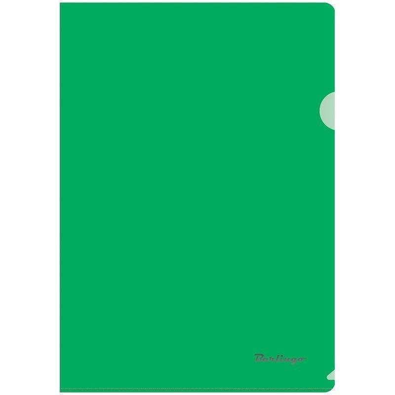 Папка-угол (карман) Berlingo 0,18мм прозрачная зеленая