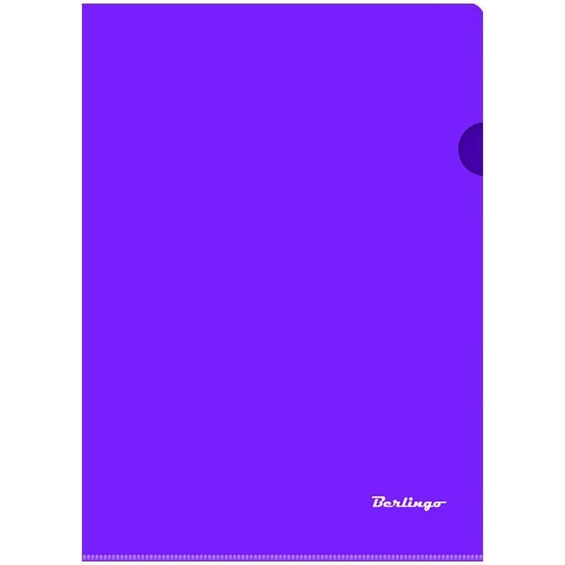 Папка-угол (карман) Berlingo 0,18мм прозрачная фиолетовая