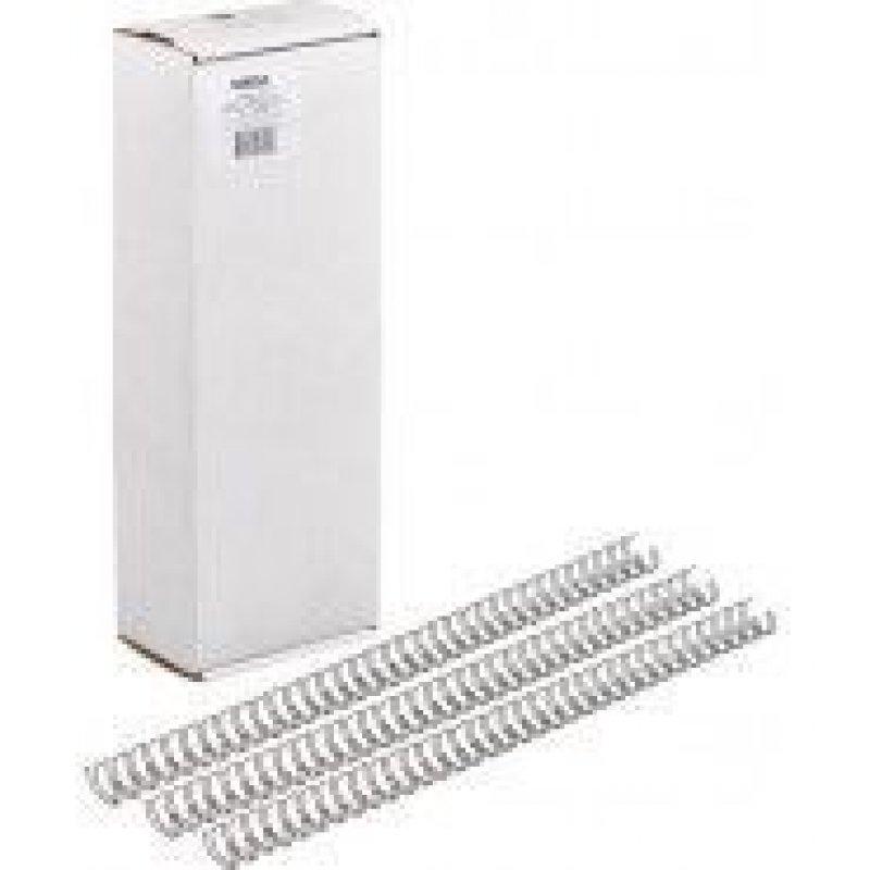 Пружины для переплета металл  6,4мм белые 100шт/уп