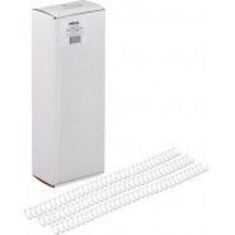 Пружины для переплета металл  8мм белые 100шт/уп