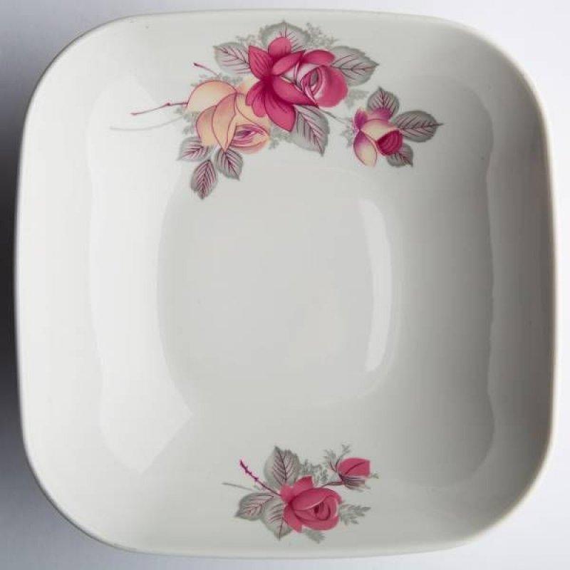 Салатник 1400мл Розовые розы фарфор