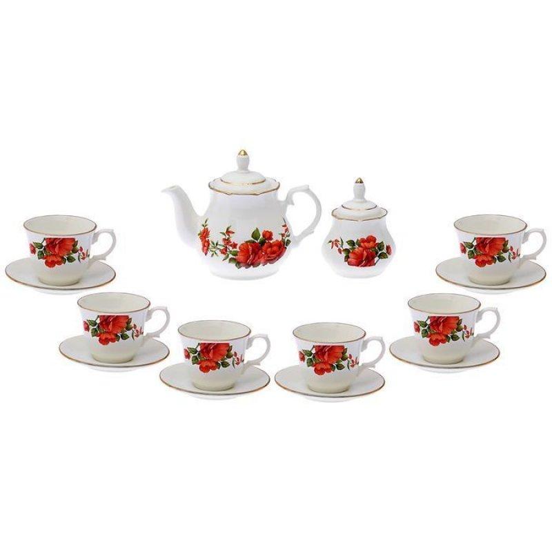 Набор чайный Арина Розы-3 14пр фаянс