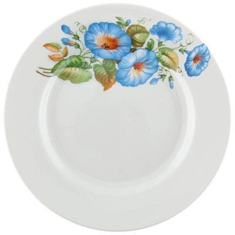 Тарелка 175мм Синий цветок мелкая фаянс
