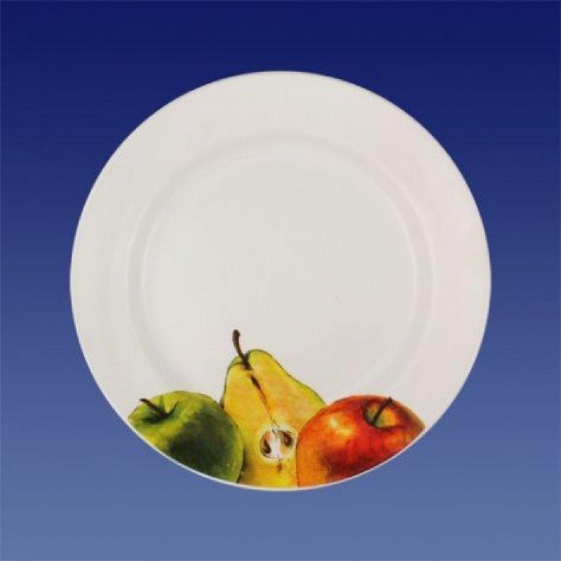Тарелка 175мм Яблоки-груши мелкая фаянс