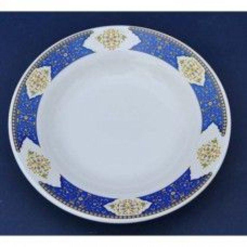 Тарелка 200мм Восточный синий мелкая фаянс