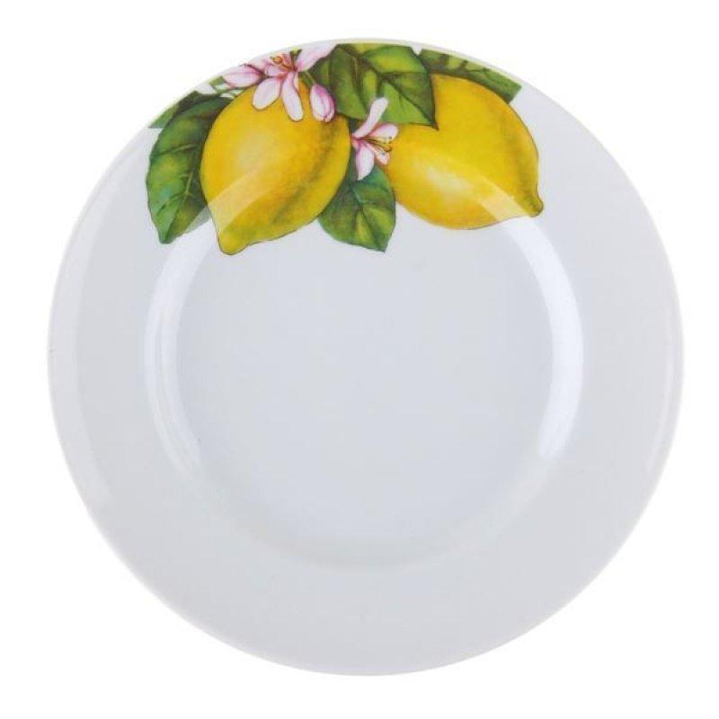 Тарелка 200мм Лимоны мелкая фаянс