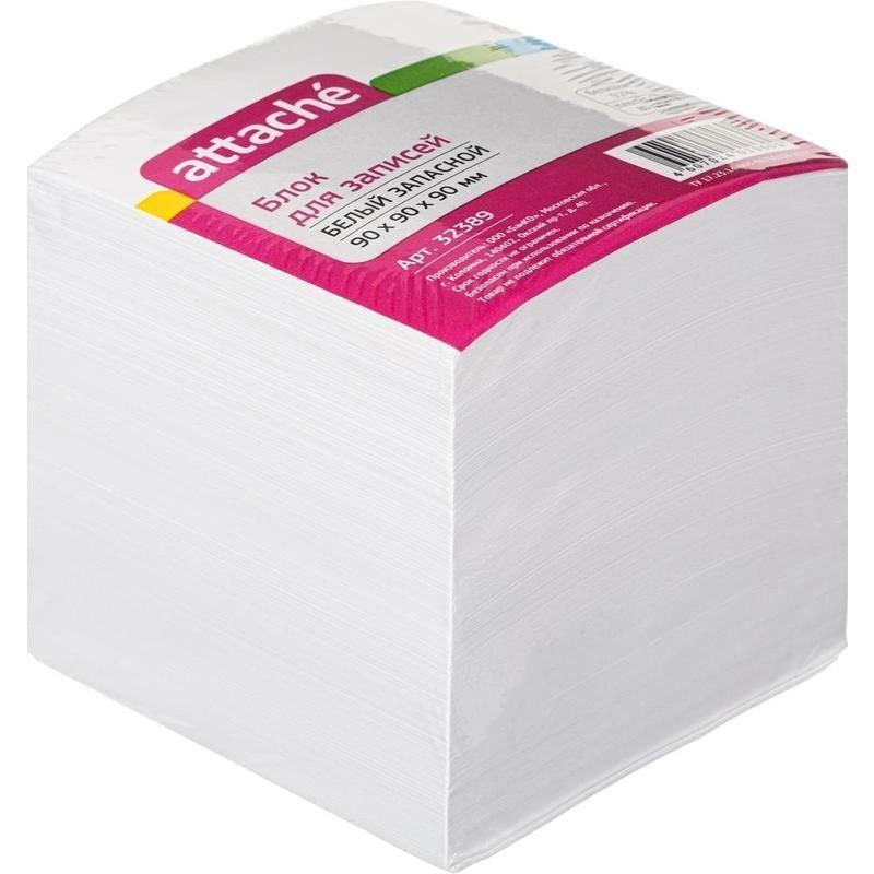 Блок для записей 90х90х90мм Attache белый 92% запасной