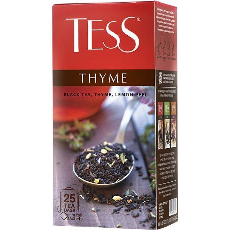 Чай Tess Thyme 25шт в пакетиках черный с чабрецом и лимоном