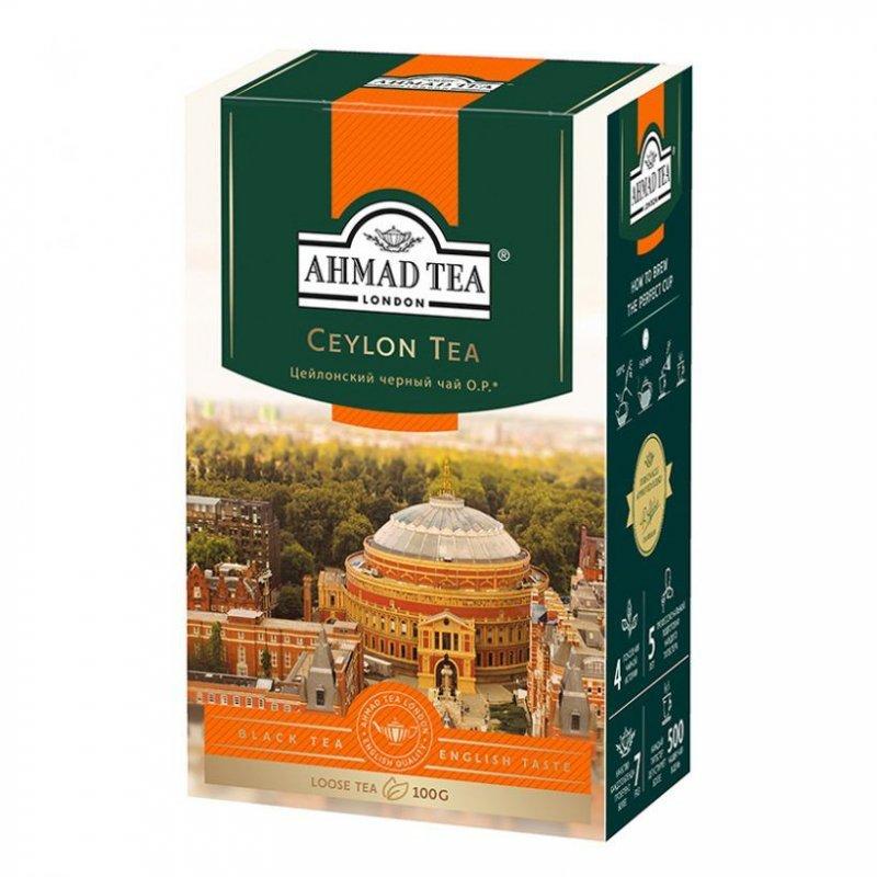 Чай Ahmad Ceylon Tea Orange peco 100г листовой черный